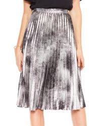 Vince Camuto - Metallic Suede Skirt - Lyst