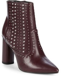 BCBGeneration - Hollis Studded Block Heel Booties - Lyst