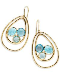 Ippolita - Rock Candy Blue Topaz, Swiss Blue Topaz, London Blue Topaz And 18k Green Gold Drop Earrings - Lyst