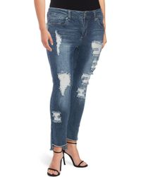 Seven7 - Molokai Distressed Skinny Jeans - Lyst