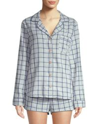 UGG - W Milo Check Cotton Pajamas - Lyst