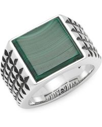 Effy - Malachite And Sterling Silver Band Ring - Lyst