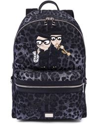Dolce & Gabbana - Leopard Printed Backpack - Lyst