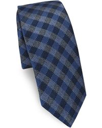 Saks Fifth Avenue - Tonal Check Silk Tie - Lyst