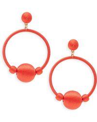 Gemma Simone - Round Drop Earrings - Lyst