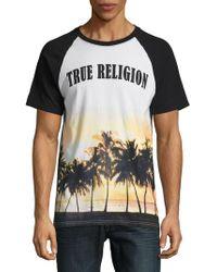 True Religion - Sunset Palms Cotton Tee - Lyst