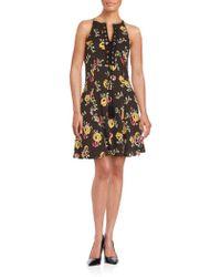 19 Cooper - Floral Print A-line Dress - Lyst