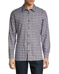 Calvin Klein - Gingham Long-sleeve Button-down Shirt - Lyst