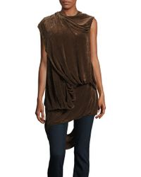 de1dff84fdf9f Rick Owens - Sleeveless Velvet Bundle Top - Lyst