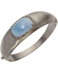 Bavna - Diamond & Gemstone Sterling Silver Cuff - Lyst