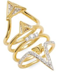 Noir Jewelry - Cz Cutout Ring - Lyst