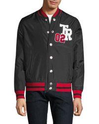 True Religion - Logo Varsity Jacket - Lyst