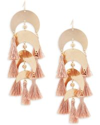 Panacea - Tiered Tassel Earrings - Lyst