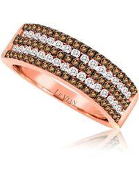 Le Vian - 14k Strawberry Gold Chocolate Diamonds & Vanilla Diamonds Four-row Pave Ring - Lyst
