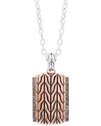 John Hardy - Diamonds Pendant Necklace - Lyst