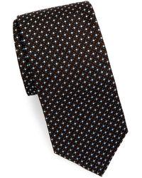 Brioni - Square & Dot Silk Tie - Lyst