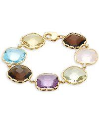 Roberto Coin - 18k Yellow Gold, Diamond & Gemstone Link Bracelet - Lyst