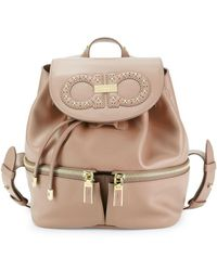 Ferragamo - Logo Leather Backpack - Lyst
