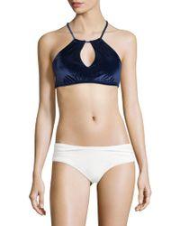 Trina Turk - Velveteen High-neck Bikini Top - Lyst