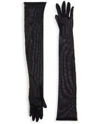 Dries Van Noten - Faux Pearl-embellished Long Gloves - Lyst