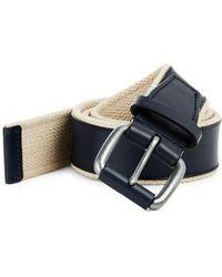 Cole Haan - Webbing Leather Belt - Lyst