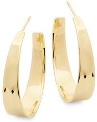 Ippolita - Senso 18k Gold Tapered Hoop Earrings - Lyst