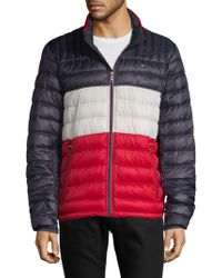 Tommy Hilfiger - Packable Nylon Down Puffer - Lyst