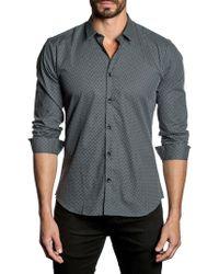 Jared Lang - Polka Dots Button-down Shirt - Lyst