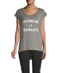 Gaiam - Dani Cap-sleeve Namaste Tee - Lyst