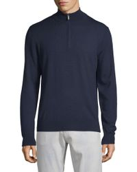 Saks Fifth Avenue - Turtleneck Quarter-zip Wool Sweater - Lyst
