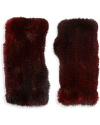 Saks Fifth Avenue - Dyed Mink Fur Fingerless Gloves - Lyst