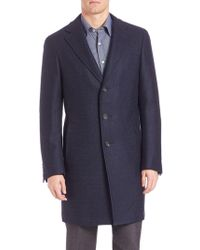 Canali - Wool Topcoat - Lyst