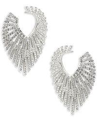 Adriana Orsini - Phoenix Crystal Hoop Earrings - Lyst