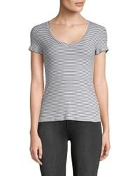 Project Social T - Striped V-neck Cotton Tee - Lyst