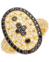 Freida Rothman - Pavé Clover Shield Ring - Lyst
