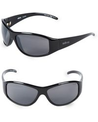 Revo - 64mm Wrap Sunglasses - Lyst