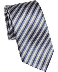 Saks Fifth Avenue - Herringbone Textured Striped Silk Tie - Lyst