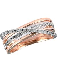Effy - 14 Kt Rose Gold Layered Diamond Band - Lyst