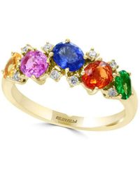 Effy - 14k Yellow Gold And Multicolor Diamonds Ring - Lyst