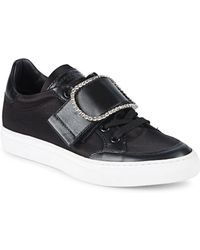 John Galliano - Embellished Buckle Low-top Sneakers - Lyst