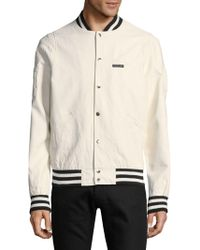 Members Only - Rib-trimmed Bomber Jacket - Lyst