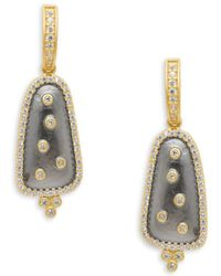 Freida Rothman - Scattered Crystal Drop Earrings - Lyst