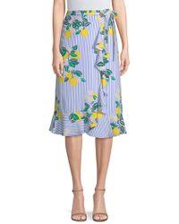 Draper James - Lemon Print Wrap Skirt - Lyst