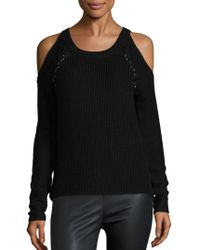 Ramy Brook - Issa Cold Shoulder Sweater - Lyst