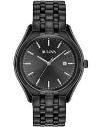 Bulova - Dress Collection Classic Black Stainless Steel Watch - Lyst