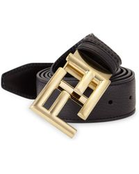 Fendi - Pebble Leather Belt - Lyst