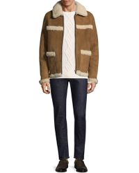 A.P.C. - Canadienne Shearling Coat - Lyst