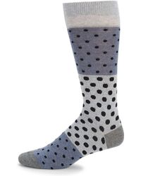 Saks Fifth Avenue - Polka-dot Crew Socks - Lyst