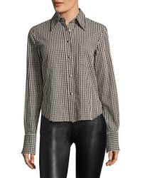 Helmut Lang - Check Long-sleeves Polo - Lyst