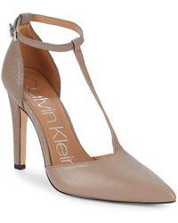 Calvin Klein - Brandy T-strap D'orsay Pumps - Lyst